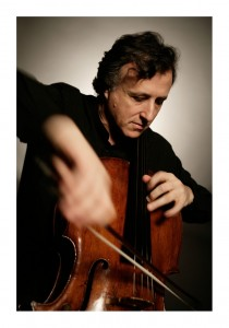 Raphael Wallfisch, cello playing, credit Benjamin Ealovega