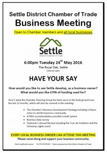 Settle Chamber of Trade Meeting