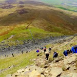The scramble to Pen-y-ghent summit by John Wood, Earby, Lancashire